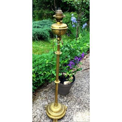 Floor Lamp In Bronze And Brass Rack