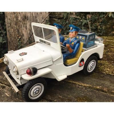 Jeep Police Dpt, Tin Toy, 1960s