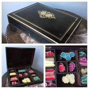 Game Box, Box With Its Very Beautiful Napoleon III Tokens