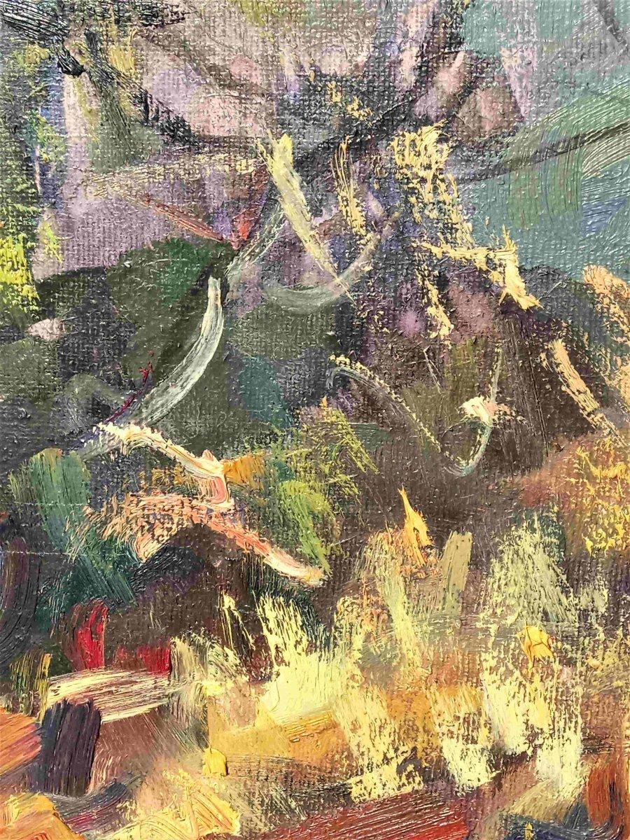 Sieyes. A (twentieth), Almond Blosooms, Oil On Canvas, With Frame-photo-1