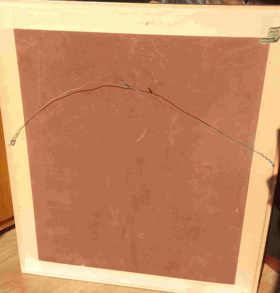 Sieyes. A (twentieth), Almond Blosooms, Oil On Canvas, With Frame-photo-3