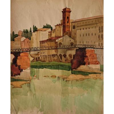 Canepa Jean-frederic (1894-1981), Watercolor,