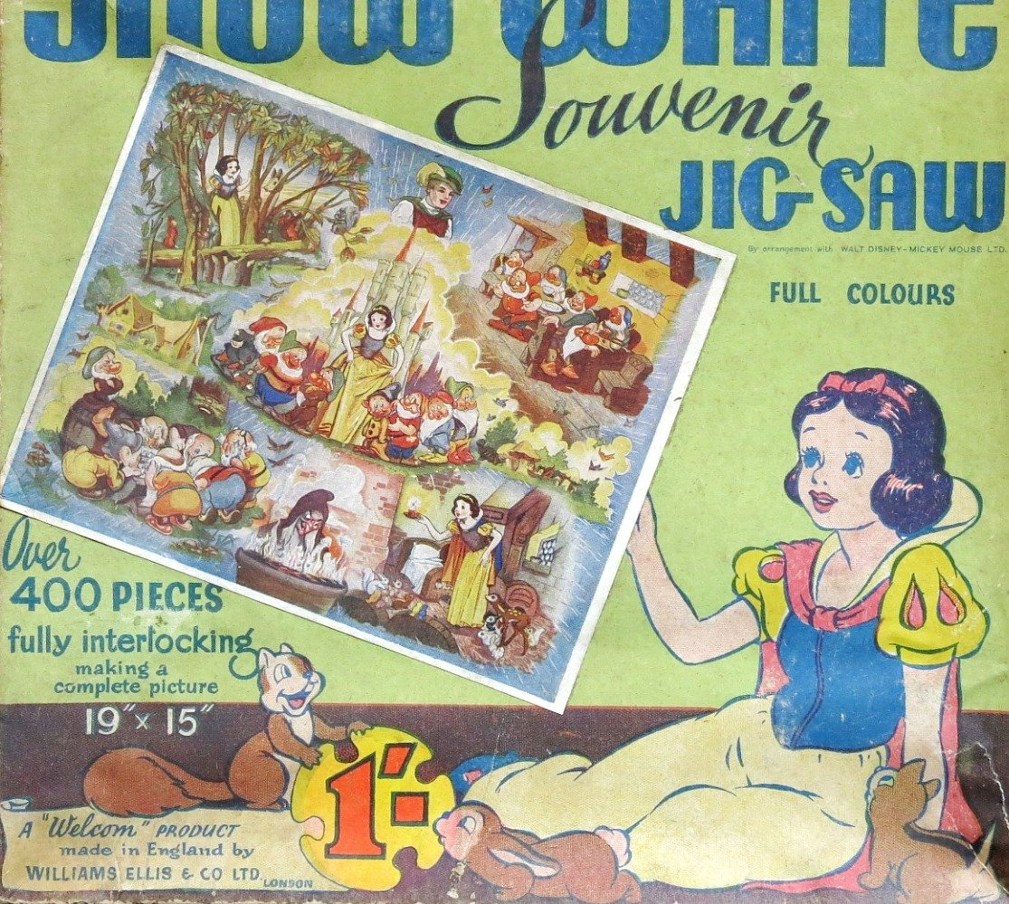 Puzzle Blanche Neige & Les 7 Nains, Walt Disney 1938. William Elils.-photo-1