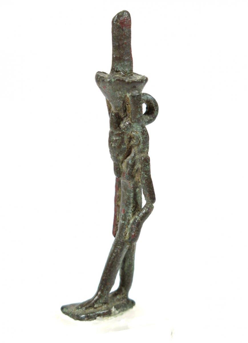 Bronze Amulet Of Nefertoum. Ptolemaic Egypt.