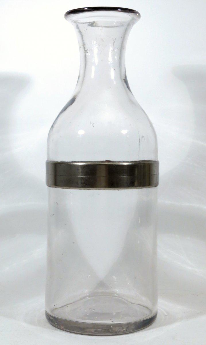Carafe, bouteille à glace de bistrot, 1895, époque absinthe.
