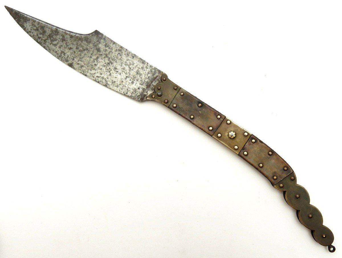 Couteau pliant espagnol navaja, début XIXème.