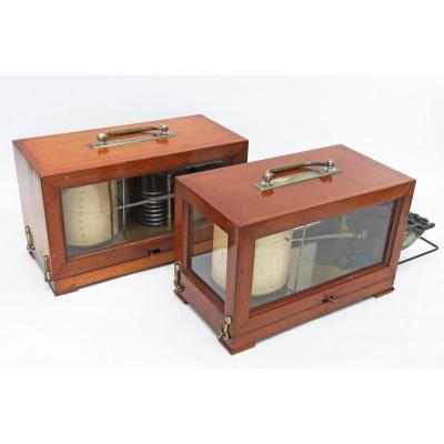 Baromètre enregistreur (barographe) et thermographe Richard Fres. 1900