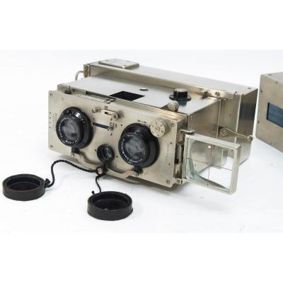 Appareil photo stéréoscopique 6 X 13. Ontoscope Cornu Zeiss. 1920