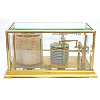 Barometer Recorder (barograph) Jules Richard. Brass And Glass