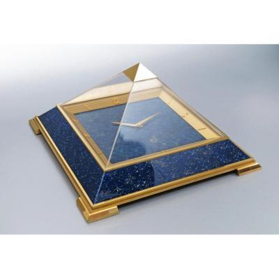 Pendulette de table Jaeger-LeCoultre pyramide 1975