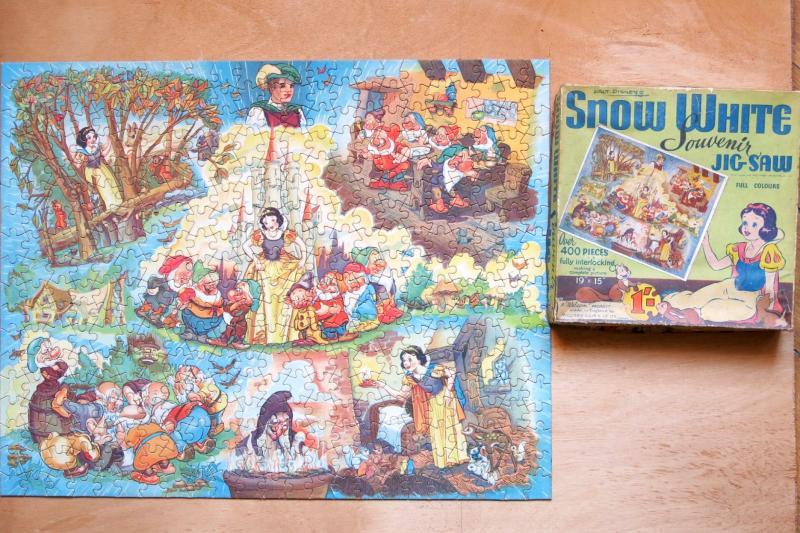 Puzzle Blanche Neige & Les 7 Nains, Walt Disney 1938. William Elils.-photo-4
