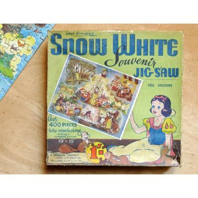 Puzzle Blanche Neige & Les 7 Nains, Walt Disney 1938. William Elils.