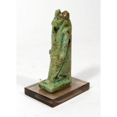 Amulet Of The God Thoth In Green Glazed Earthenware. Egypt, Lower Period.