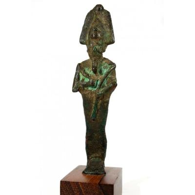 Bronze Statuette Of Osiris, Egypt Saït Period.