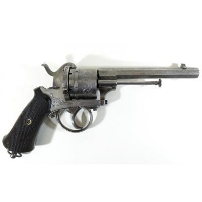 Revolver 9 mm à broche type Lefaucheux, Liège 1880.