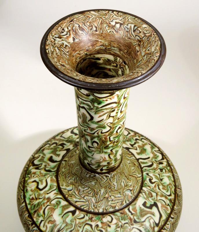 Grand vase en terres mêlées, par Pichon à Uzès. 1900-photo-4
