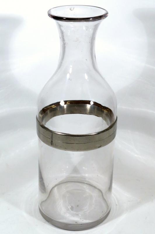 Carafe, bouteille à glace de bistrot, 1895, époque absinthe.-photo-2