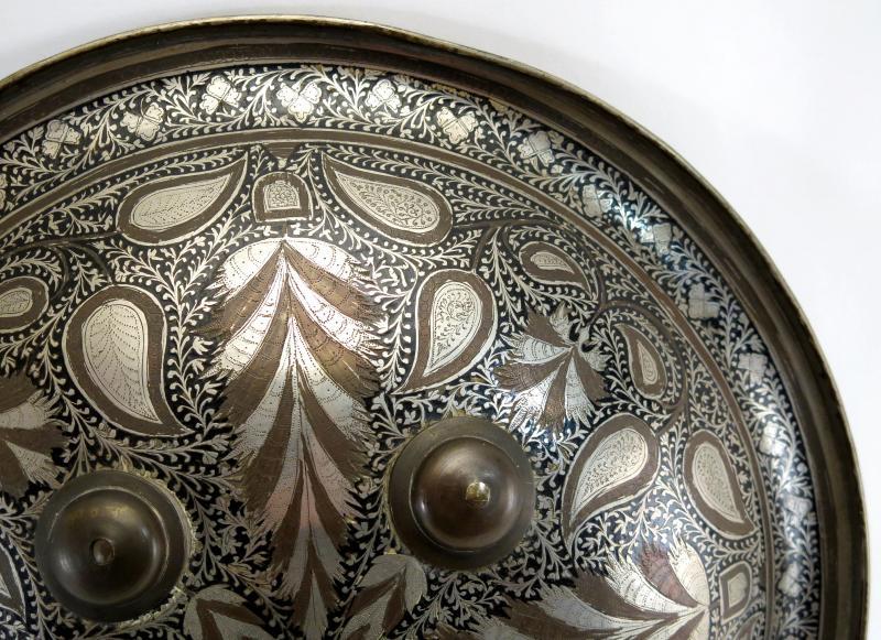 Rondache ottomane ou persane, fin XIX, début XXème.-photo-2