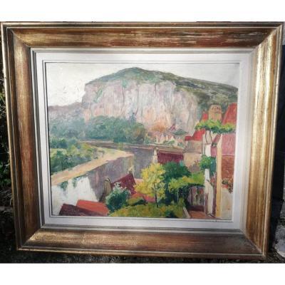 La Roque Gageac En Dordogne Par Henri David