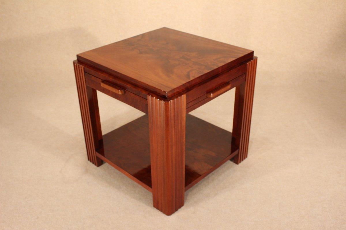 Table Basse Art Déco Vers 1930 En Acajou-photo-3