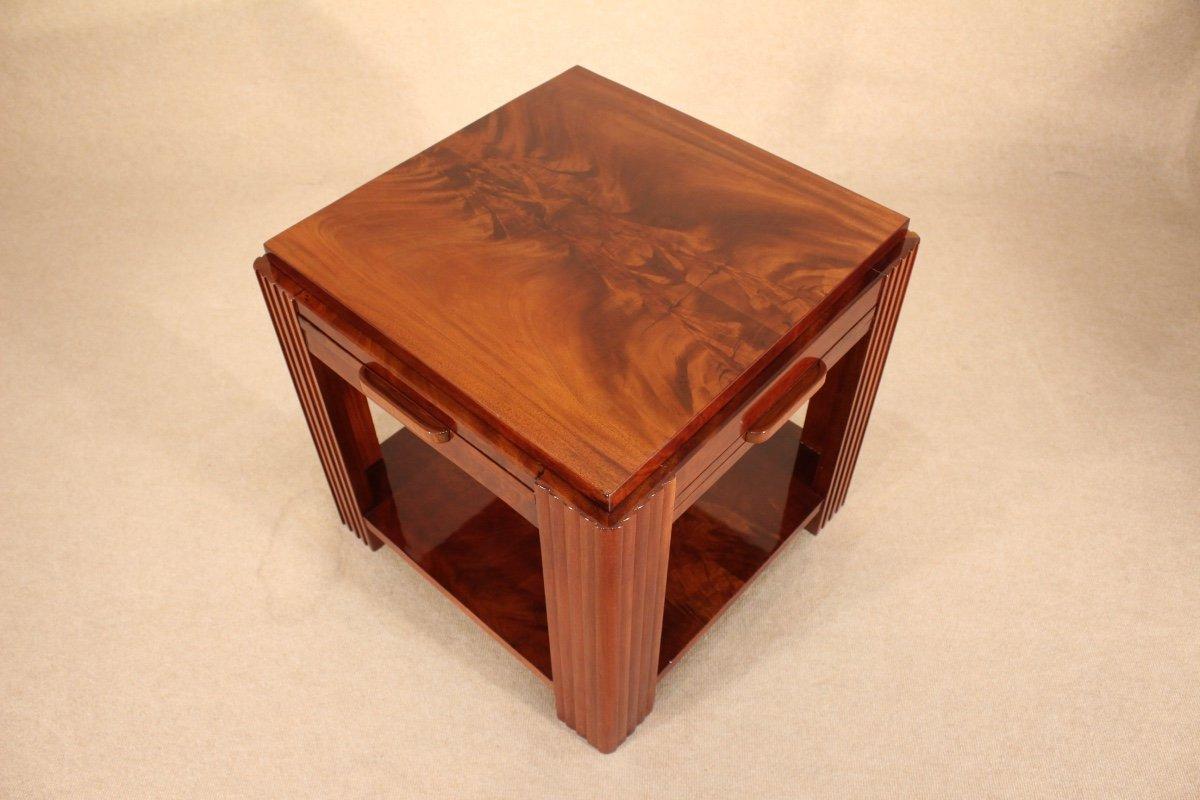 Table Basse Art Déco Vers 1930 En Acajou-photo-1