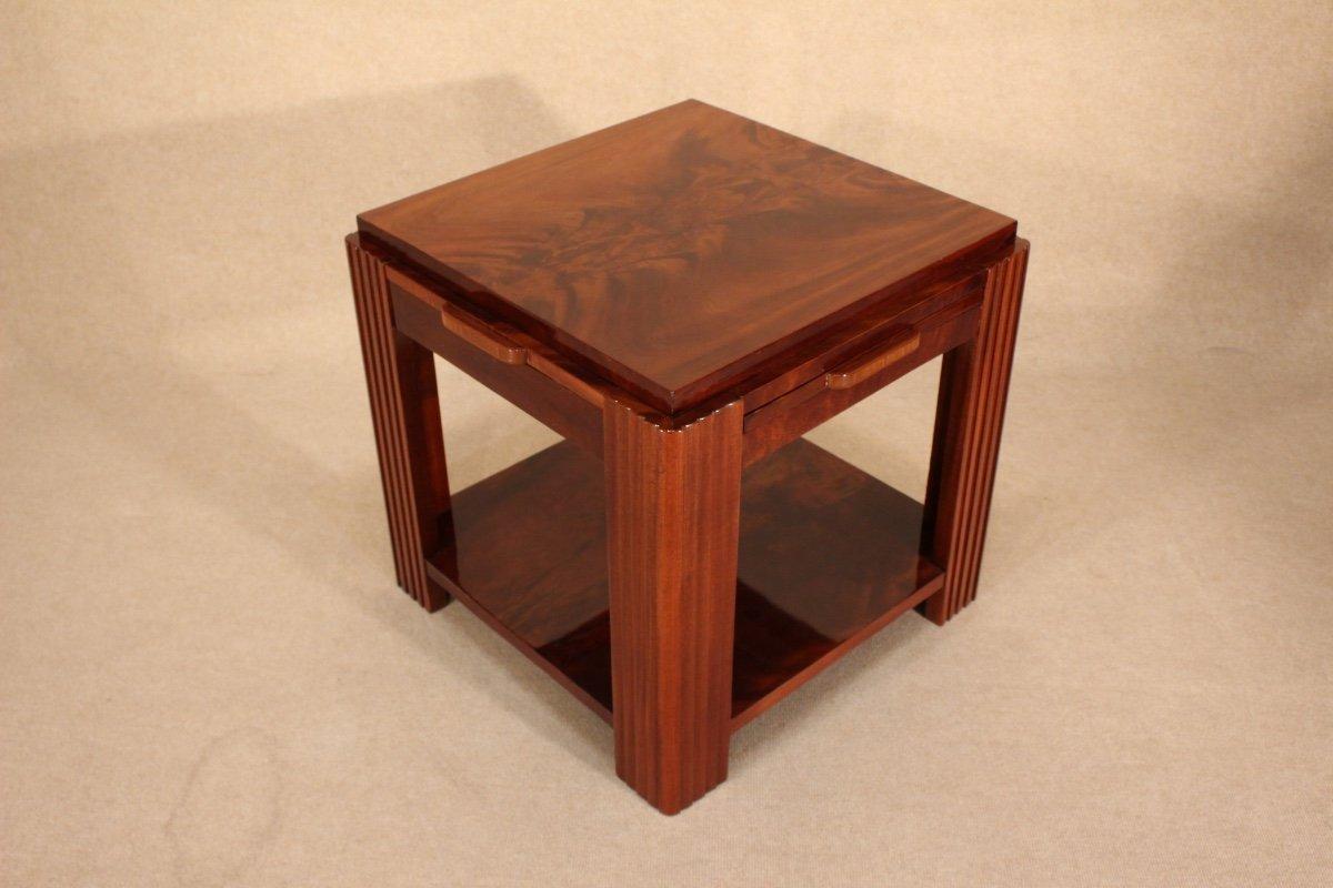 Table Basse Art Déco Vers 1930 En Acajou-photo-2