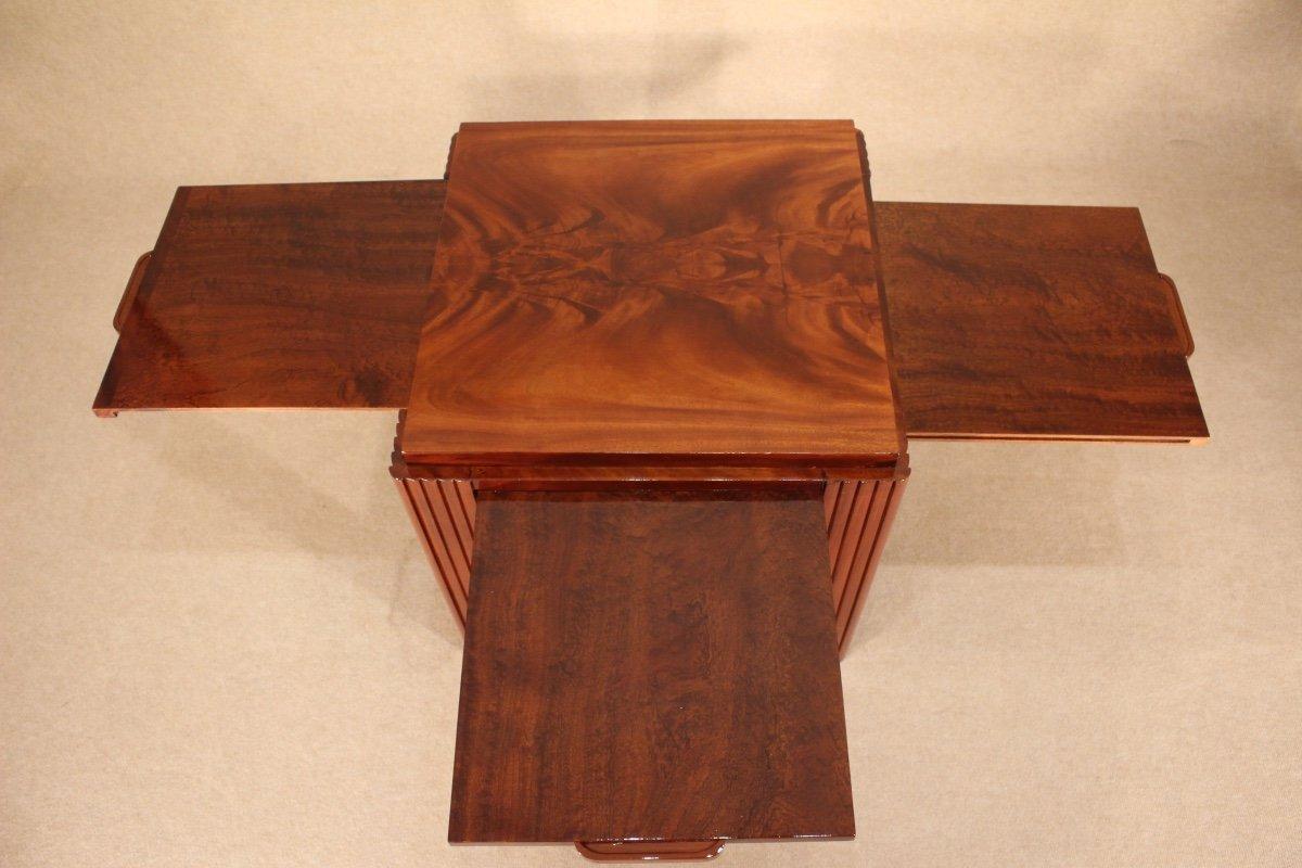Table Basse Art Déco Vers 1930 En Acajou-photo-4