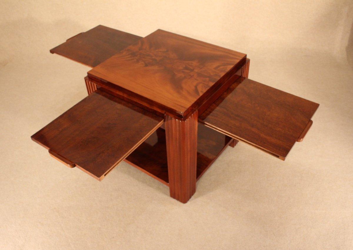 Table Basse Art Déco Vers 1930 En Acajou-photo-5