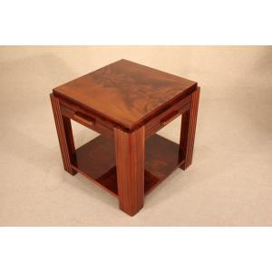 Table Basse Art Déco Vers 1930 En Acajou
