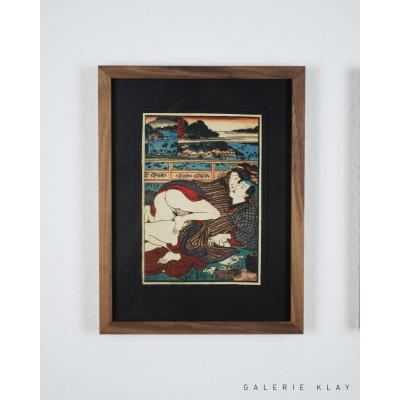 Shunga estampe japonaise érotique