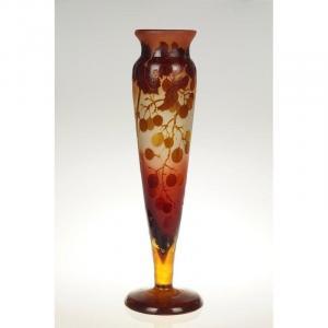 Vase Décor Vignes, Émile Gallé (1846-1904), Art Nouveau, Nancy, Début XXe Siècle