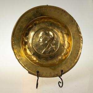 Plat à Offrandes Nuremberg Avec Cicéron, Renaissance, Allemagne Du XVIe Siècle