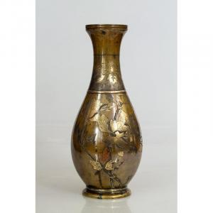 Vase, Japon, Bronze, époque Meiji (1868-1912)