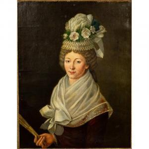Portrait De Femme, Antoine Vestier ? Louis XVI Vers 1790