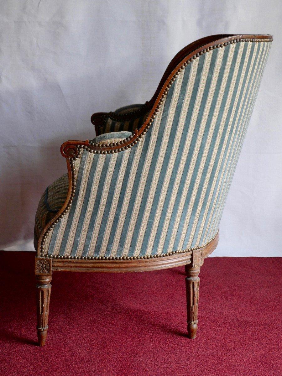 Fauteuil bergère - Epoque Louis XVI-photo-1