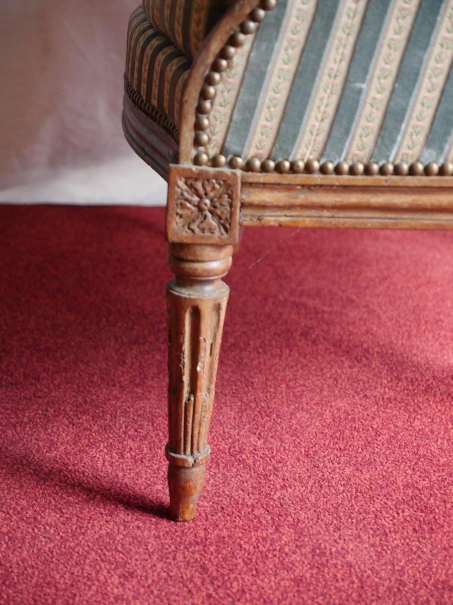 Fauteuil bergère - Epoque Louis XVI-photo-2