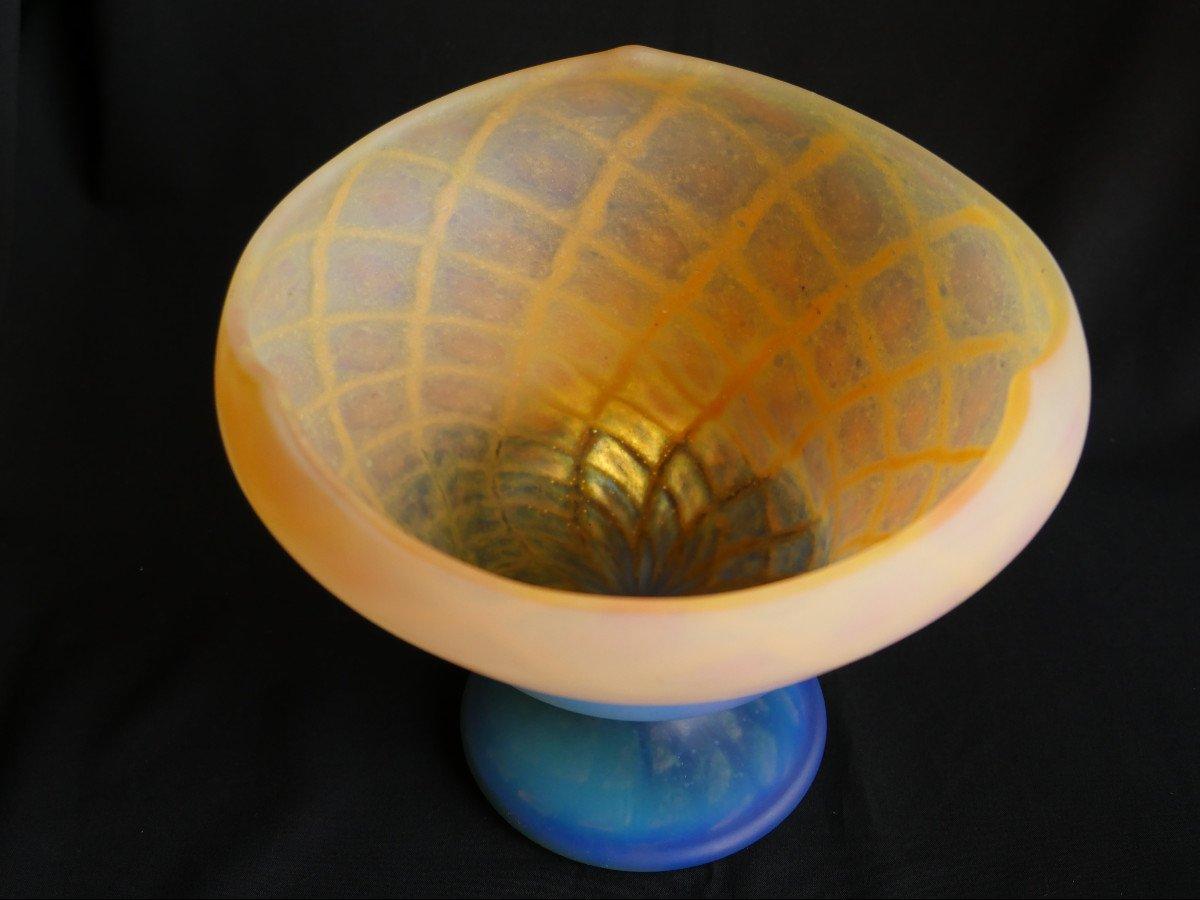 Daum - Vase-Coupe en cristal-photo-2