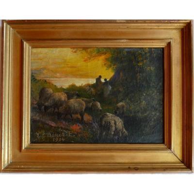 Emmanuel-charles Bénézit - Oil On Canvas