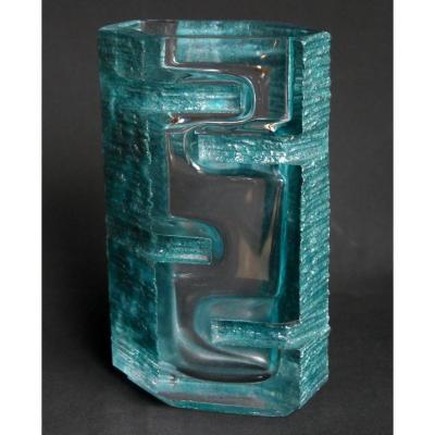 Daum et César - Vase en cristal