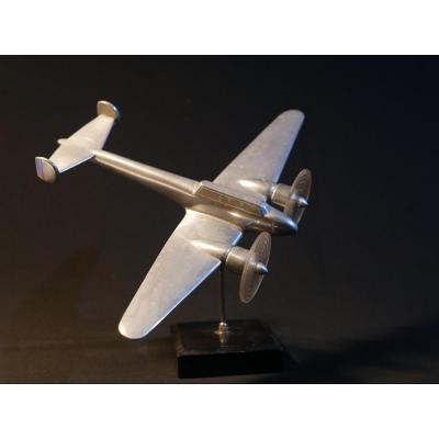 Avion - Sculpture en métal - Sujet de bureau