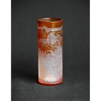 Baccarat - Vase rouleau en cristal