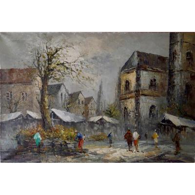Tableau - Huile sur toile - Montmartre