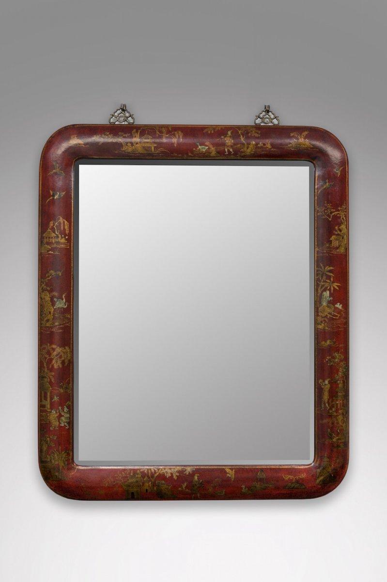 Miroir à Décor Chinoisant Vers 1970