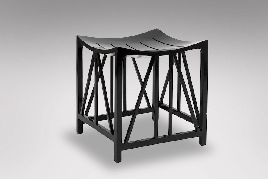 Lacquered Stool Circa 1970