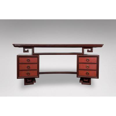 Than Le - Lacquer Desk From Vietnam Circa 1950