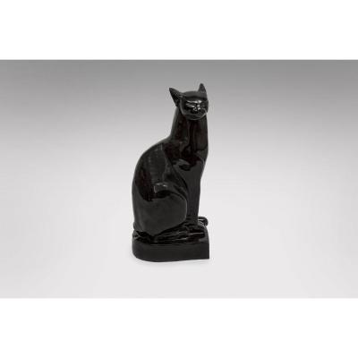 Kaza - Black Ceramic Cat France 1930