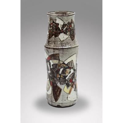 Paul Quéré - Le Minotaure - Vase En Céramique