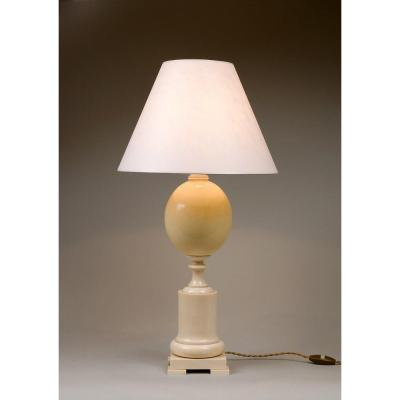 Lamp In Ivory And Ostrich Egg