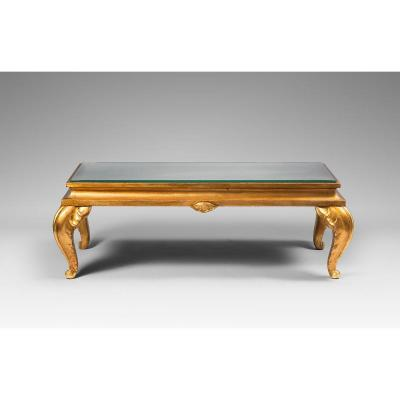 Maison Jansen - Coffee Table In Gilded Wood