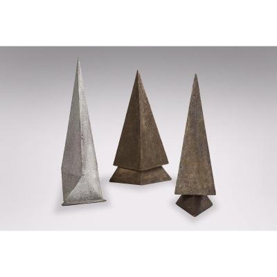 Daniel-jacques Allonsius - 3 Sculptures En Panneaux De Bois